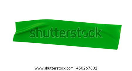 Single piece of insulating tape isolated over the white background - stock photo