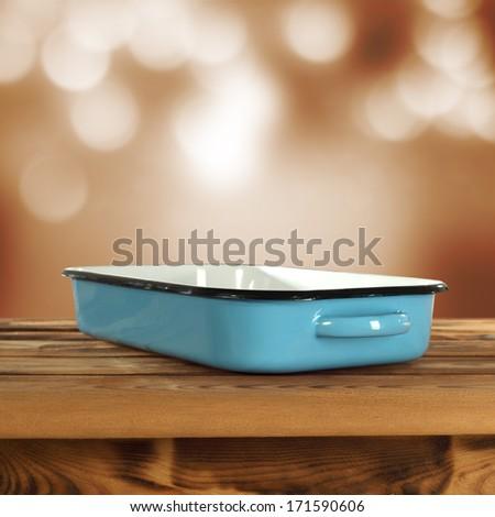 single pot of blue  - stock photo