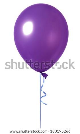 single purple  balloon  - stock photo