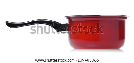 single red srewpot isolated on white background - stock photo