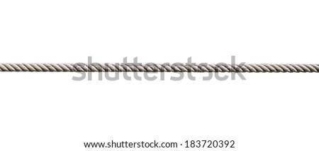 single rope isolate - stock photo