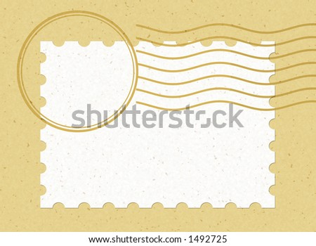 single stamp horizontal, Easy to use & Personalize it with your own style. - stock photo