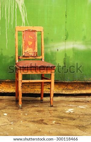 single vintage chair - stock photo