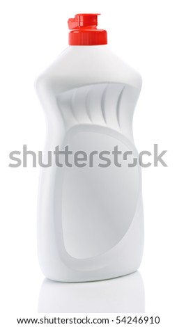 single white clean bottle isolated