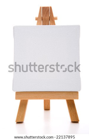 single white painting canvas - stock photo