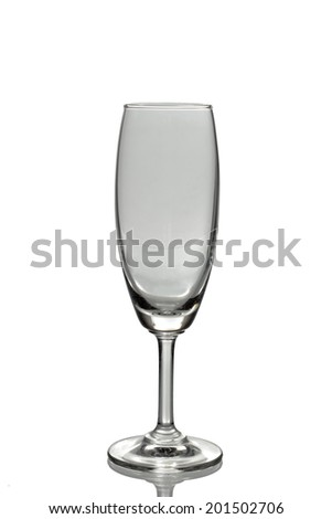 Single Wine glass on clear background