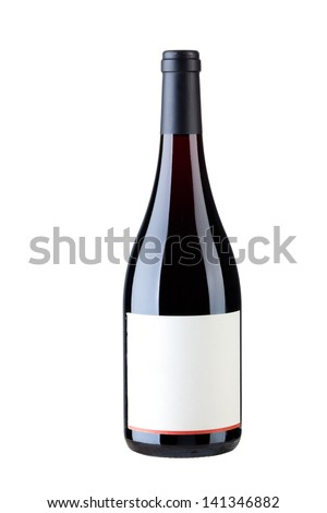 Single wine with isolated on white.