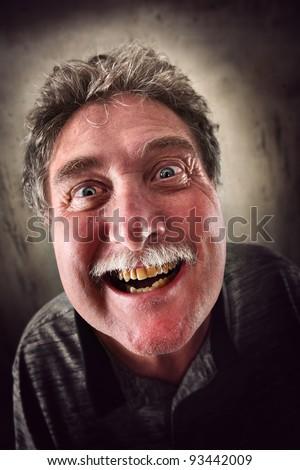 Sinister Smile - stock photo