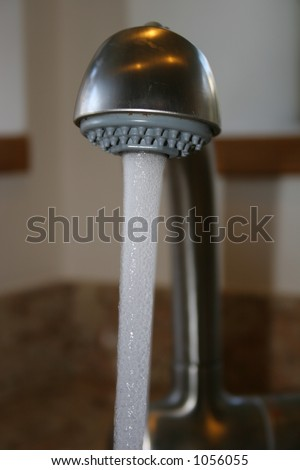 Sink Faucet - stock photo