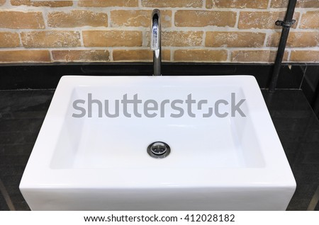 sink in the Toilet - stock photo