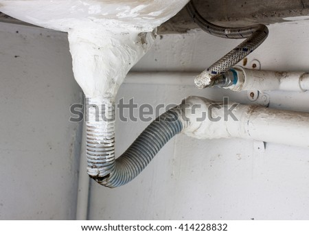 kitchen sink pipe leaking plumbing leak stock images royalty free images amp vectors 5892