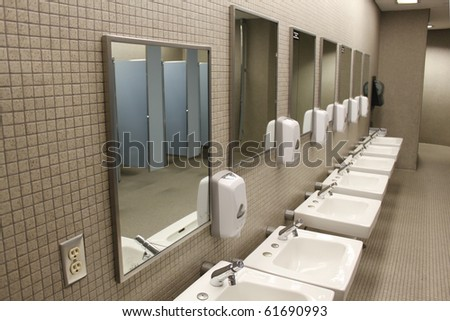 Sinks and mirrors - stock photo