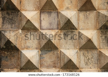 Sintra (Lisbon, Portugal). Details of the decorating of the facade. - stock photo