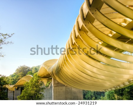 Sinuous Metal Cage - stock photo