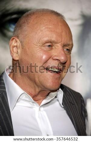 "Sir Anthony Hopkins at the Los Angeles Premiere of ""The Rite"" held at the El Capitan Theater in Hollywood, California, United States on January 26, 2010."