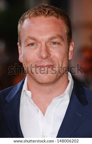 "Sir Chris Hoy arriving for the ""Alan Partridge: Alpha Papa"" premiere at the Vue Leicester Square, London. 24/07/2013"