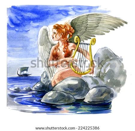 Siren. Mythology - stock photo