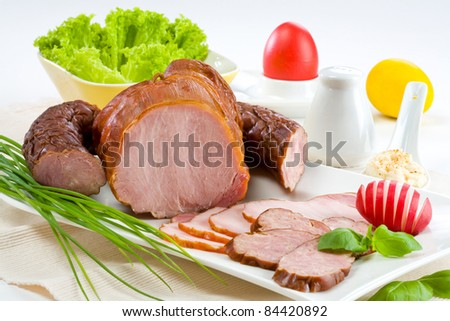 Sirloin on a white plate