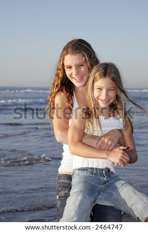 Sisterly fun - stock photo