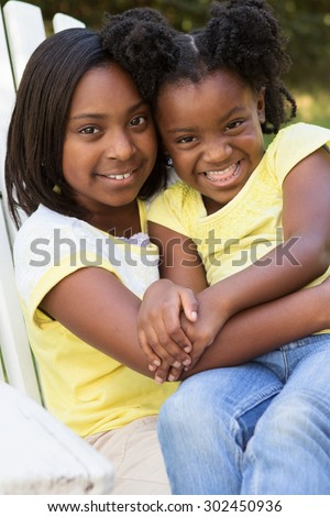 Sisters - stock photo