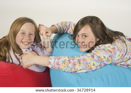 Two Fourteen Year Old Girls On Stock Photo 223983