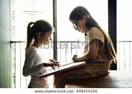Sisters Friendship Ideas Imagination Creative Concept