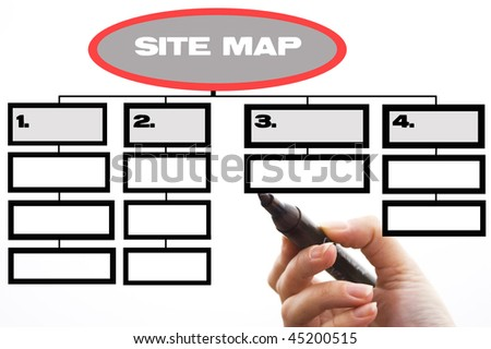 Site map - stock photo