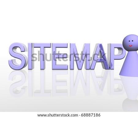 Sitemap - stock photo