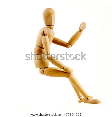 sitting - stock photo