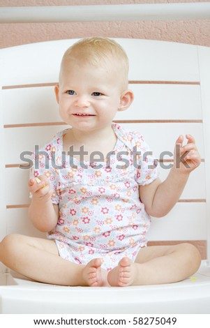 sitting toddler