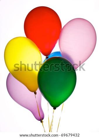 Six balloons - stock photo
