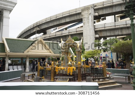 Six Day after bomb explosion in Ratchaprasong Intersection Bangkok, Thailand. Explosion on August 17, 2015 at 6:55PM, Killing 23 people in the area.
