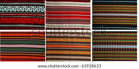 Six different embroidery  in one file 18mp. Traditional bulgarian embroidery ,used on covers ,dresses ,napkins , tableclodes.The russian,ukranian ,serbian,ungarian,turkish ,greek,serbian  are similar