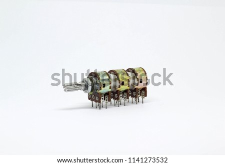 Six Gangs Potentiometer Variable Resistor On Stockfoto (Lizenzfrei ...