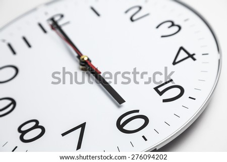 Six o'clock - stock photo