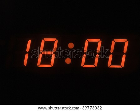 six o clock pm - stock photo