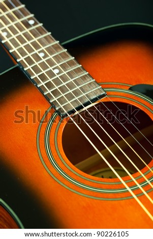 Six-string acoustic guitar