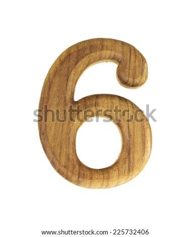 Six Wooden Isolated On White Background - stock photo