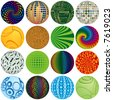 Sixteen Colorful Balls to add to your designs - stock photo