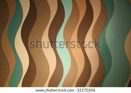 Sixties style wallpaper pattern - stock photo