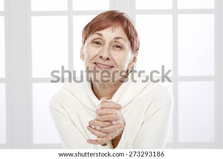Sixty years old woman - stock photo