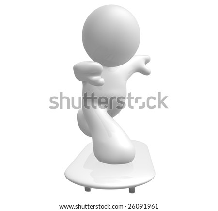 Skate board icon figure