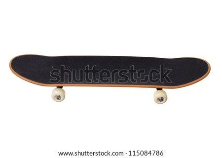 Skate Board on White Background - stock photo