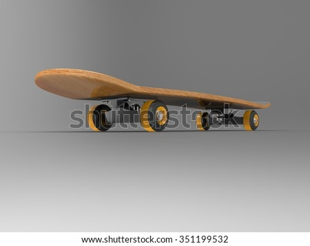 skateboard 3D collection 03
