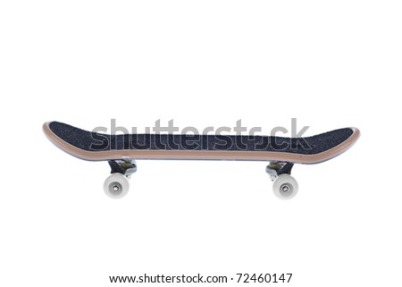 skateboard isolated with a clipping path - stock photo