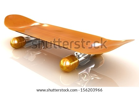 Skateboard on a white background - stock photo