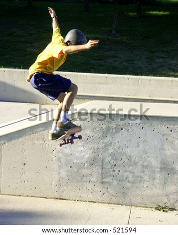 skateboarder - stock photo