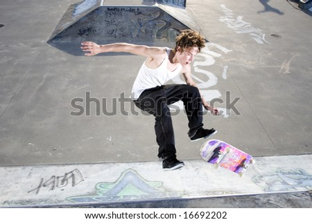 Skateboarder Crashing - stock photo