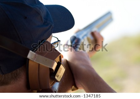 Skeet Shooting - stock photo