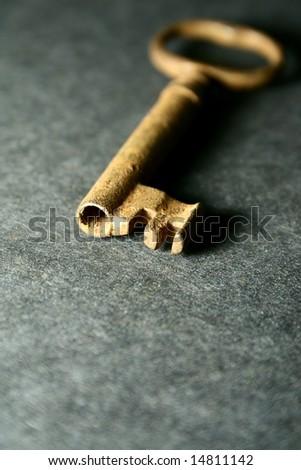 skeleton key - stock photo